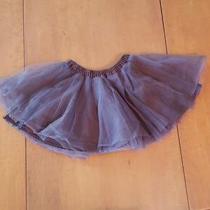 Brown toil skirt